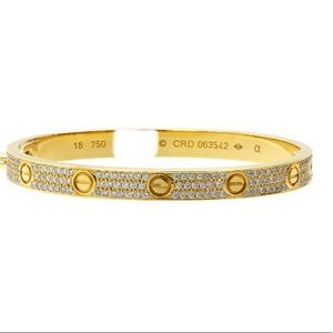 Cartier Love Bracelet Full Pave